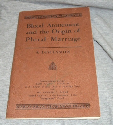 Image for BLOOD ATONEMENT AND THE ORIGIN OF PLURAL MARRAIGE