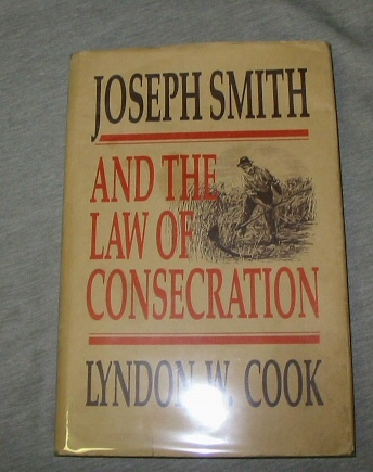 Image for JOSEPH SMITH AND THE LAW OF CONSECRATION
