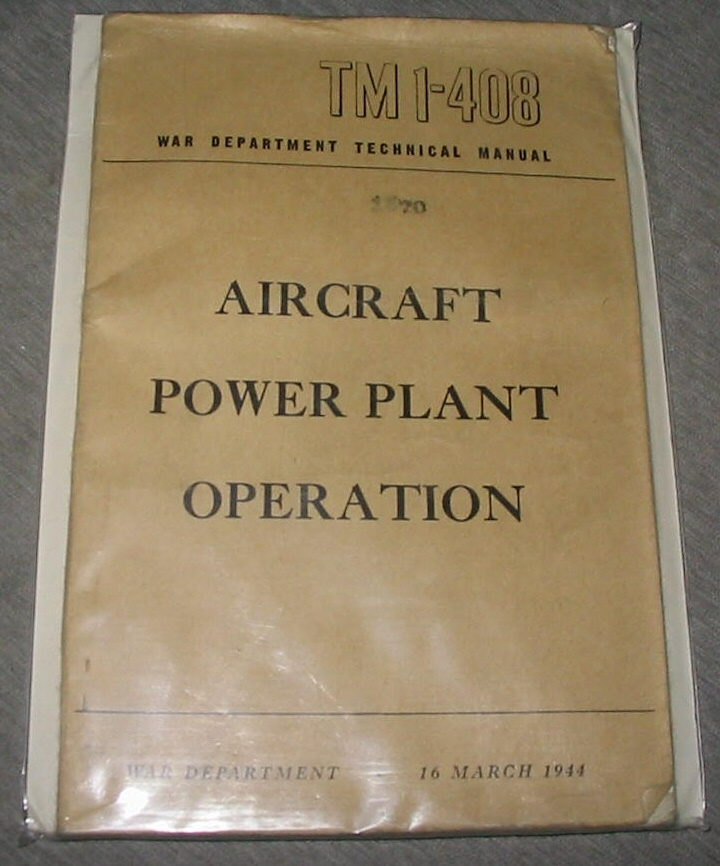 Image for Aircraft Power Plant Operation Tm 1-408