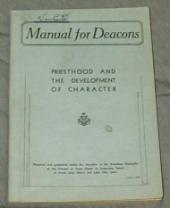 Image for MANUAL FOR DEACONS