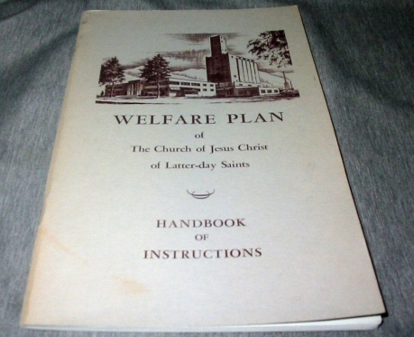 Image for WELFARE PLAN OF THE CHURCH OF JESUS CHRIST OF LATTER-DAY SAINTS - Handbook of Instructions