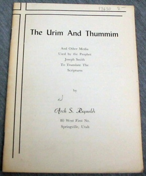 Image for THE URIM AND THUMMIM (MORMON)