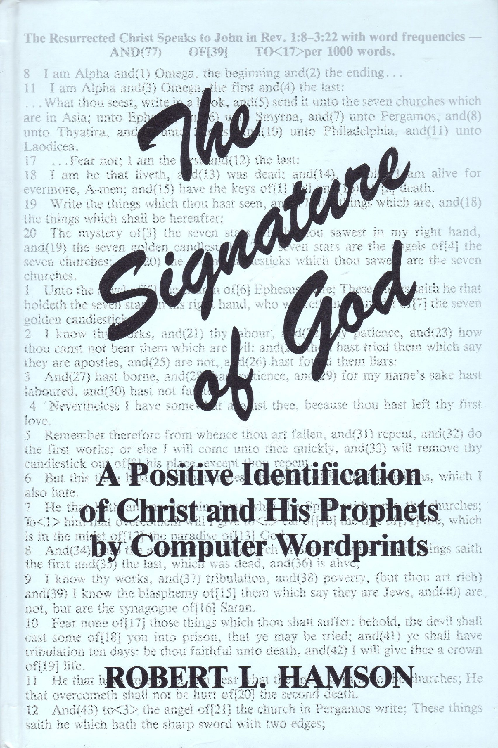 Image for Signature of God: A Positive Identification of Christ and His Prophets by Computer Wordprints