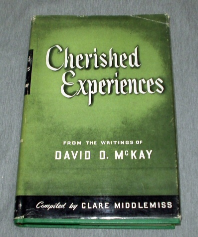 Image for CHERISHED EXPERIENCES -  From the Writings of President David O. McKay