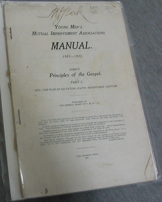 Image for Young Mens Mutual Improvement Associations Manual