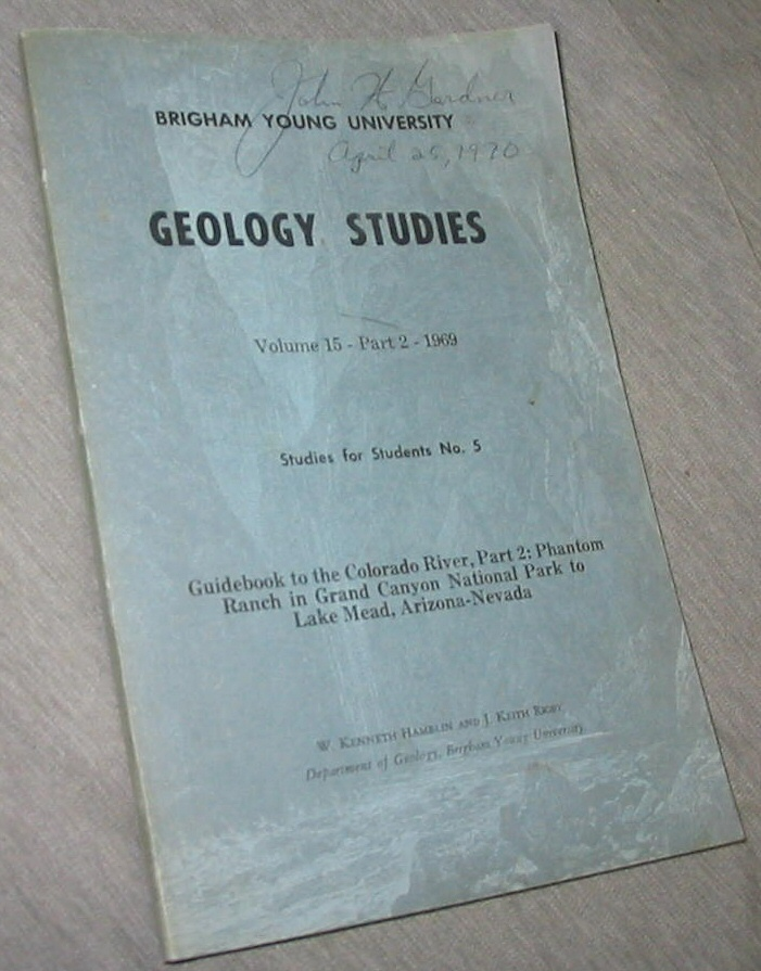 Image for Geology Studies - Volume 15- Part 2- Studies for Students No. 5
