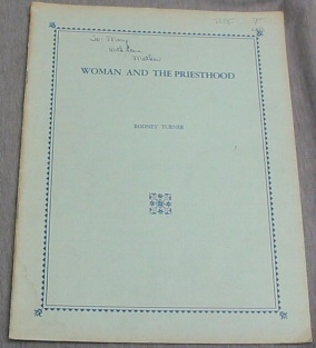 Image for WOMAN AND THE PRIESTHOOD
