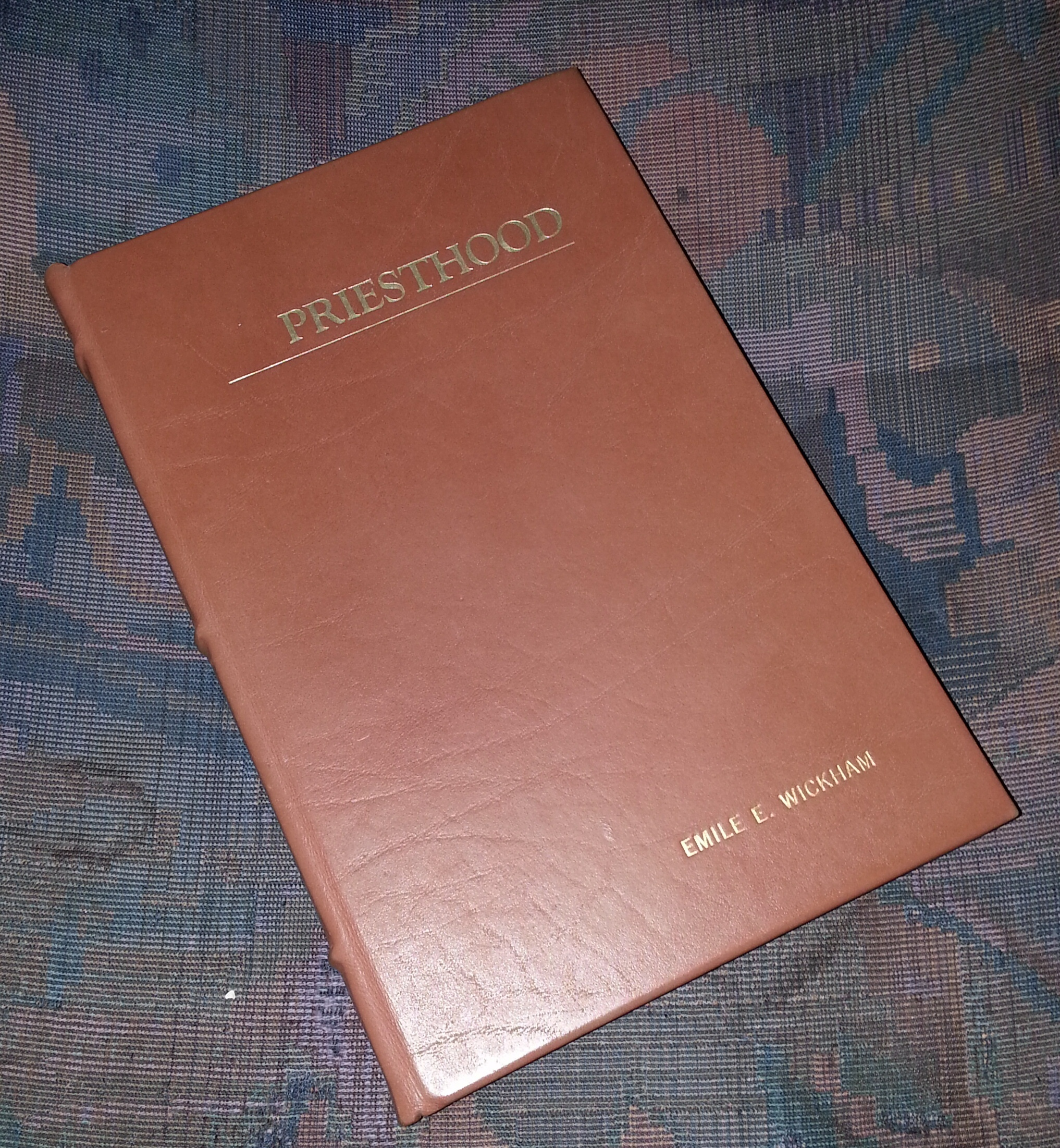 Image for Priesthood 1981 (Leather Bound) -  A collection of talks, sermons, and articles.