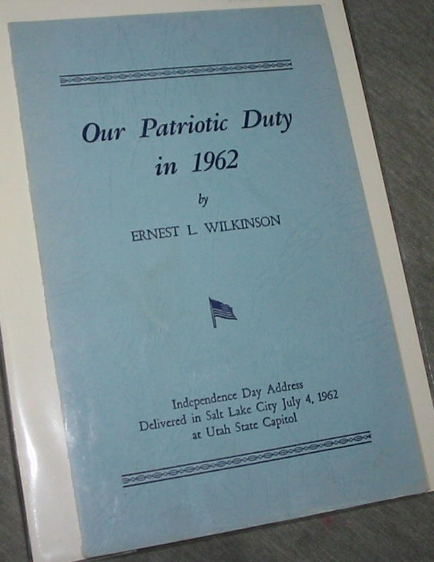Image for OUR PATRIOTIC DUTY IN 1962