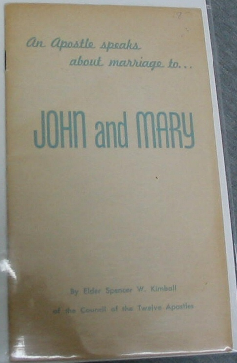 Image for An Apostle Speaks about Marriage To... John and Mary