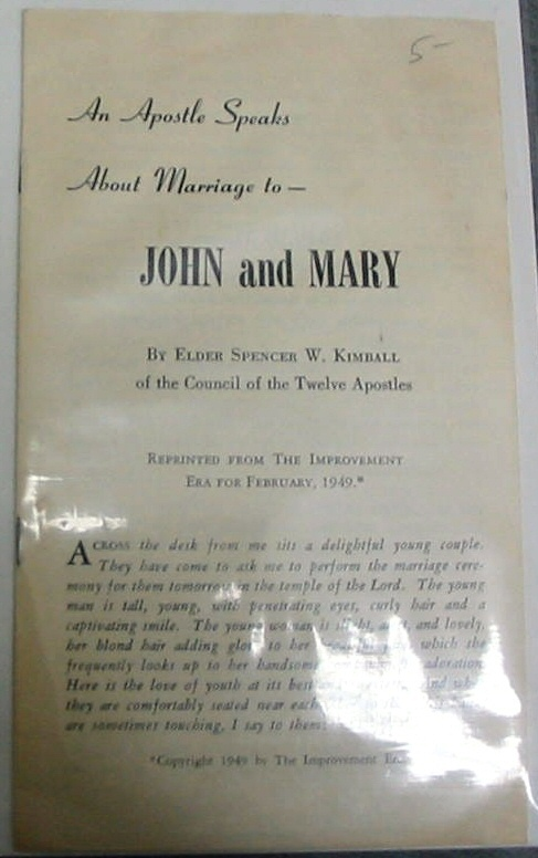 Image for An Apostle Speaks about Marriage To- John and Mary
