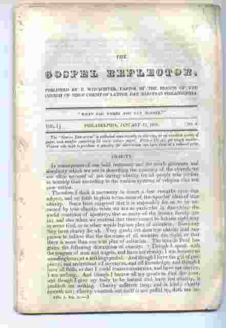 Image for THE GOSPEL REFLECTOR - Vol 1 no. 2 January 15, 1841 In Which the Doctrine of the Church of Jesus Christ of Latter-Day Saints is Set Forth, and Scripture Evidence Adduced to Establish It