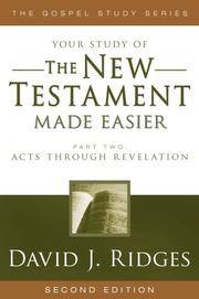 Image for THE NEW TESTAMENT MADE EASIER - PART 2 - Acts through Revelation