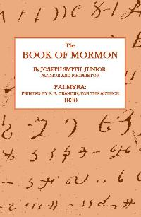 Image for THE BOOK OF MORMON (1830 EDITION)