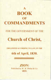 Image for A BOOK OF COMMANDMENTS (1833)