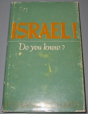 Image for ISRAEL! DO YOU KNOW?