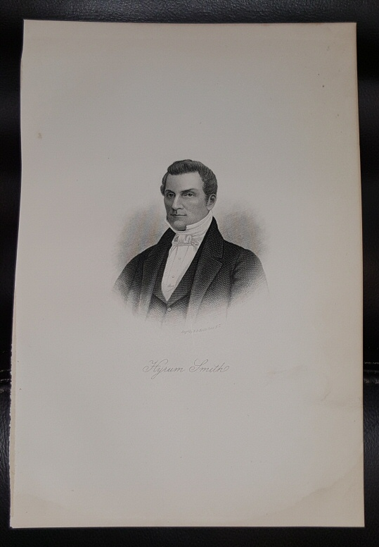 Image for Steel Engraving - HYRUM SMITH - 1890 -  Original MORMON / Utah Pioneer Steel Engraving