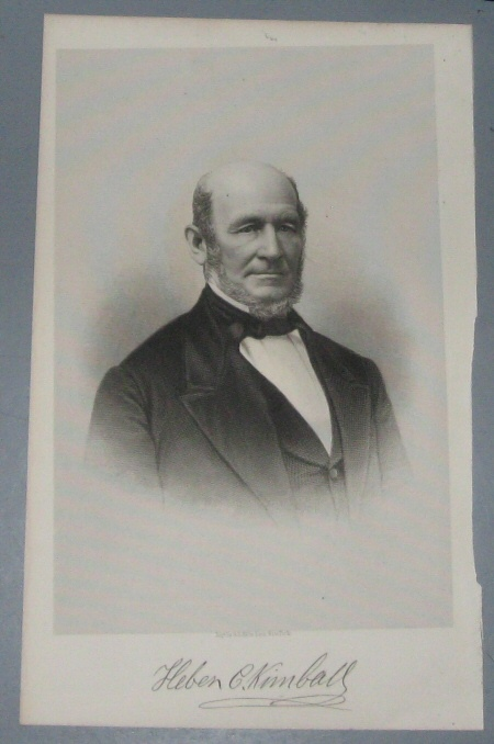 Image for Steel Engraving - HEBER C. KIMBALL - 1890 - Original MORMON / Utah Pioneer Steel Engraving