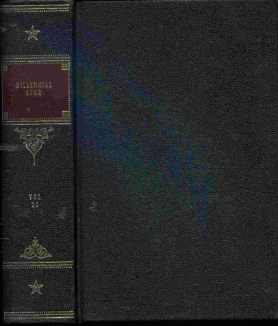 Image for MILLENNIAL STAR - HARDCOVER - MORMON - 1858 - Vol 20