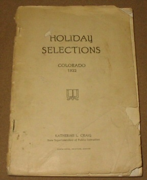 Image for HOLIDAY SELECTIONS - COLORADO 1922
