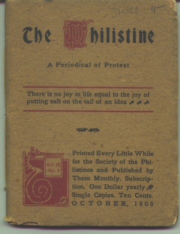Image for THE PHILISTINE A Peridoical of Protest