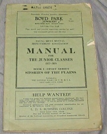 Image for YOUNG MEN'S MUTUAL IMPROVEMENT ASSOCIATIONS MANUAL FOR THE JUNIOR CLASSES 1927-28 :  Stories of the Plains