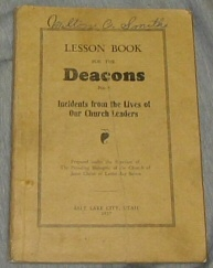 Image for LESSON BOOK FOR THE DEACONS NO. 3 - Incidents from the Lives of Our Church Leaders