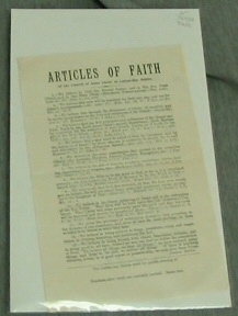 Image for ARTICLES of FAITH - Of the Church of Jesus Christ of Latter-Day Saints