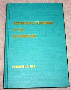 Image for DISTINCTIVE TEACHINGS OF THE RESTORATION