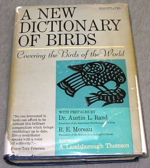 Image for A NEW DICTIONARY OF BIRDS - Covering the Birds of the World