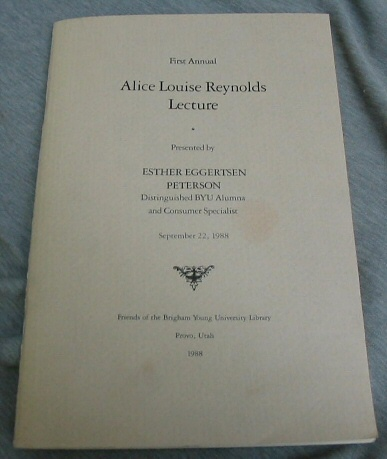 Image for First Annual Alice Louise Reynolds Lecture