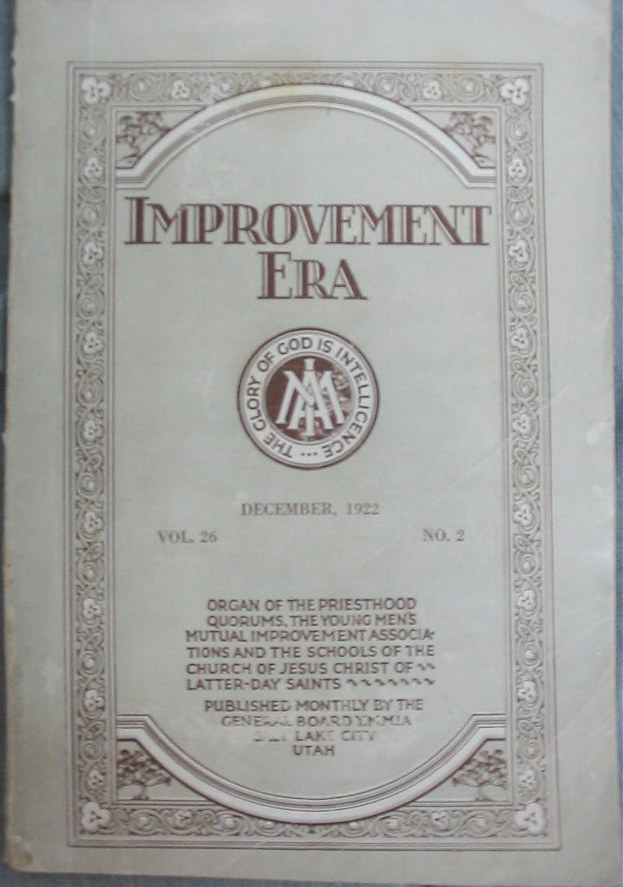Image for IMPROVEMENT ERA - DECEMBER, 1922 VOL. 26 NO. 2