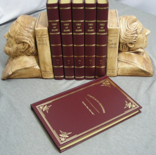 Image for TIMES AND SEASONS - 6 VOLUME COMPLETE SET - Mormon Church, Nauvoo Newspaper - the Doctrines of the Church 1839-1846