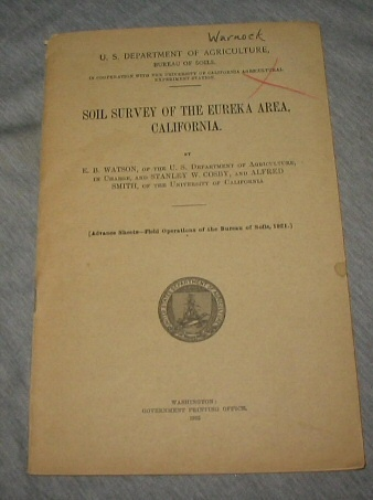 Image for Soil Survey of the Eureka Area, California