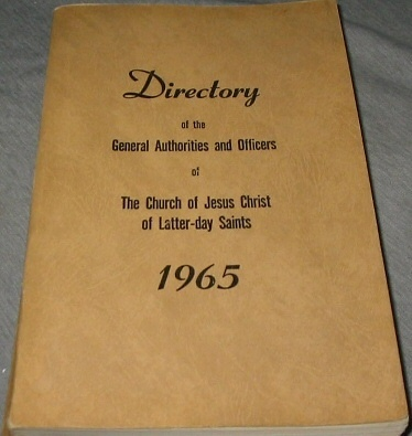 Image for Directory of the General Authorities and Officers of the Church of Jesus Christ of Latter-day Saints