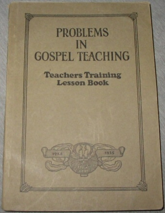 Image for Problems in Gospel Teaching - Teachers Training Lesson Book