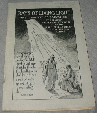 Image for RAYS OF LIVING LIGHT ON THE ONE WAY OF SALVATION