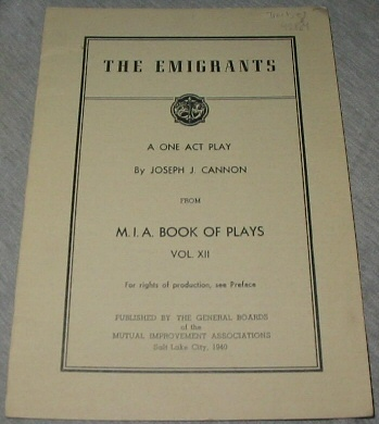 Image for The Emigrants - A One Act Play from M. I. A. Book of Plays Vol. XII