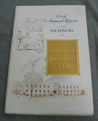 Image for 83rd Annual Report (Fiscal Year 1950-1951) the The Members of the American Jersey Cattle Club