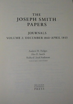 Image for The Joseph Smith Papers - Journals, Vol. 2 (1841-1843)
