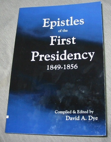 Image for Epistles of the First Presidency - 1849-1856