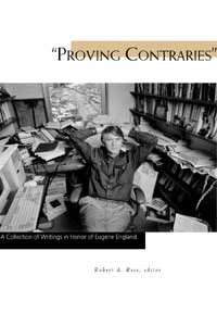 Image for Proving Contraries -  A Collection of Writings in Honor of Eugene England