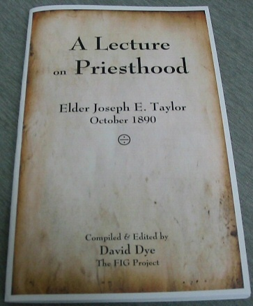 Image for A Lecture on Priesthood - Elder Joseph E. Taylor, October 1890