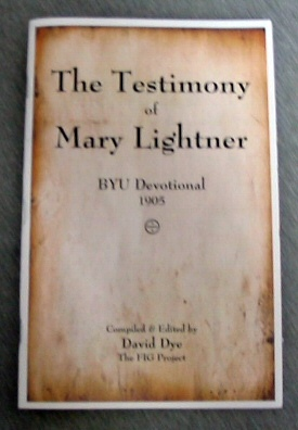 Image for The Testimony of Mary Lightner - BYU Devotional 1905