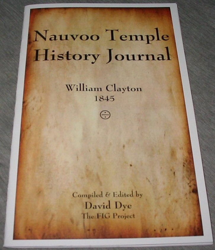 Image for Nauvoo Temple History Journal - William Clayton 1845