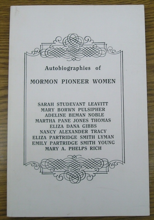 Image for Autobiographies of Mormon Pioneer Women - Volume 1- 2