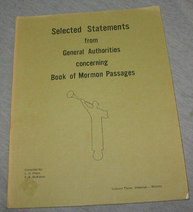 Image for Selected Statements from General Authorities Concerning Book of Mormon Passages - Helaman - Moroni