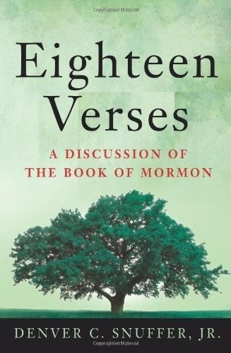 Image for Eighteen Verses - A Discussion of The Book of Mormon