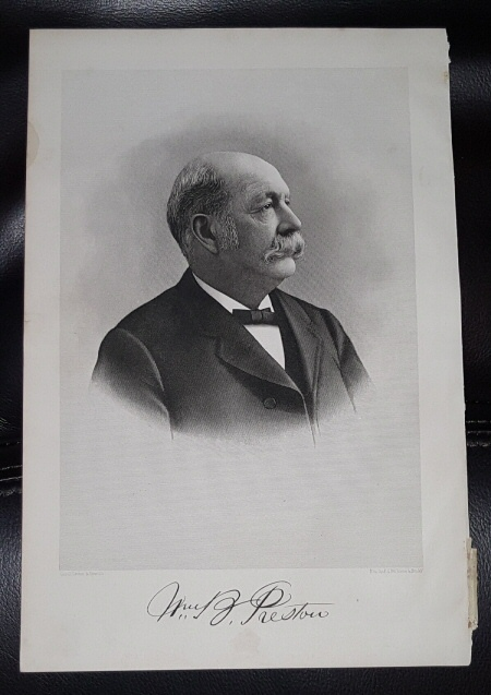 Image for Steel Engraving - William B. Preston -   Original MORMON / Utah Pioneer Steel Engraving