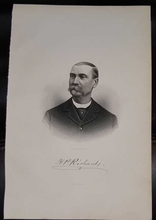 Image for Steel Engraving - Henry P. Richards -  Original MORMON / Utah Pioneer Steel Engraving
